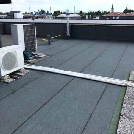 copertura con membrana bituminosa per capannoni